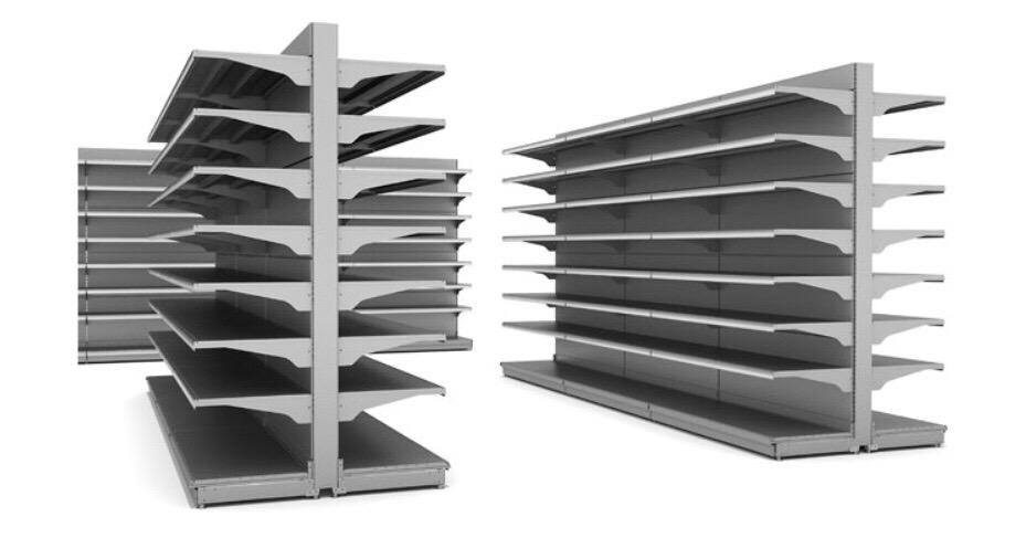 Scaffali self service usate u scaffalatura metallica porta pallet