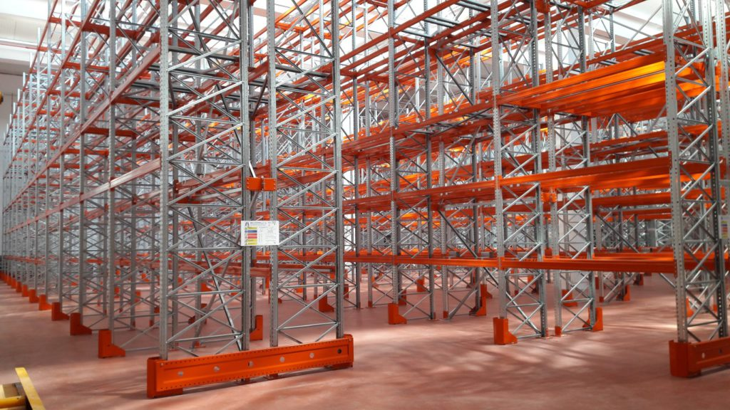 Vendita scaffalatura usata da magazzino scaffali usati