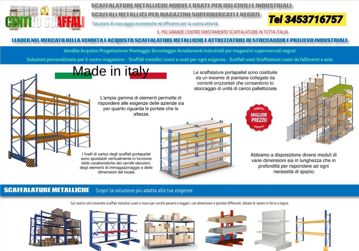 Vendita Attrezzature Per Supermercati Usate.Scaffalature Metalliche Industriali Nuove E Usate Vendita