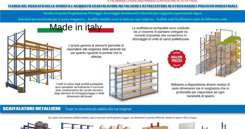 Portata Scaffali Industriali.Scaffalature Usate E Nuove Scaffalature Metalliche
